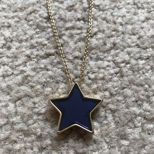 Marc by Mark Jacobs blue and gold star necklace